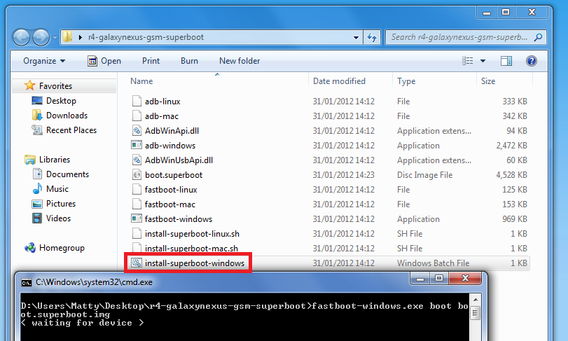 Galaxy Nexus – unlock the bootloader and get root [Windows, OSX