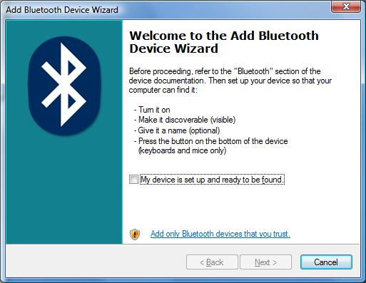Driver for ISSCEDRBTA Bluetooth Dongle in Vista 32-bit (x86